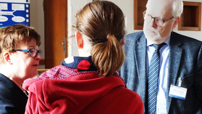 Begegnung von Wissenschaft und Wirtschaft mit Prof. Dr. Brigitte Petersen, Bettina Hundt von ChainPoint und Ernst Stöver von der GenoAkademie